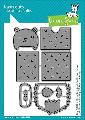 Lawn Fawn Tiny Gift Box Hedgehog Add-on LF2439