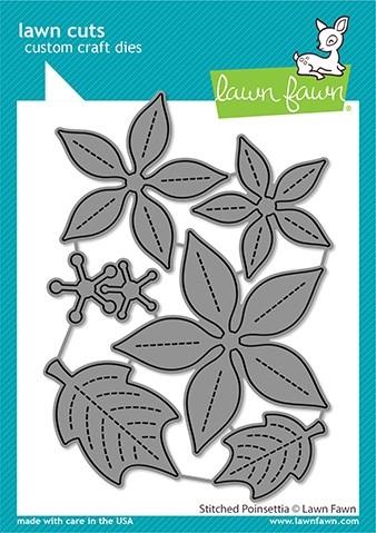 Lawn Fawn Stitched Poinsettia LF2441