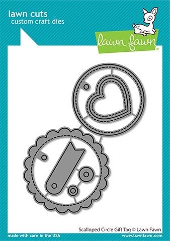 Lawn Fawn Scalloped Circle Gift Tag LF2453