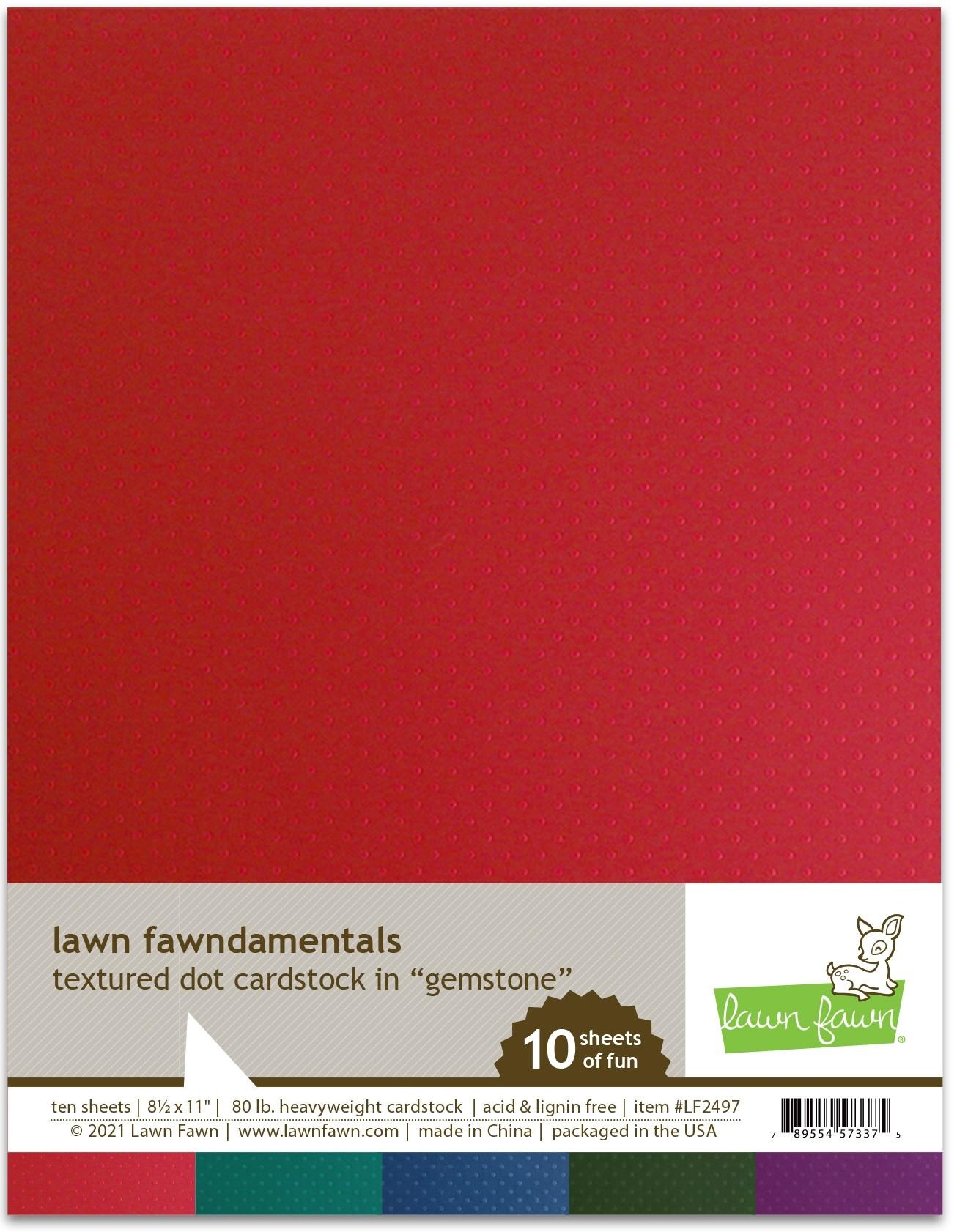 Lawn Fawn Textured Dot Cardstock - gemstone
