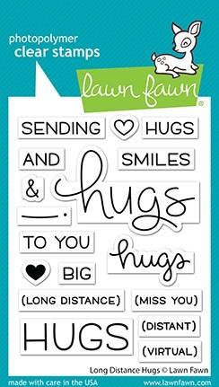 Lawn Fawn Long Distance Hugs lf2510
