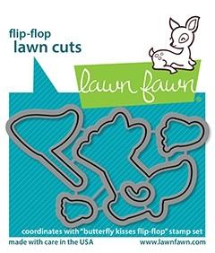 Lawn Fawn Butterfly Kisses Flip Flop Dies lf2517