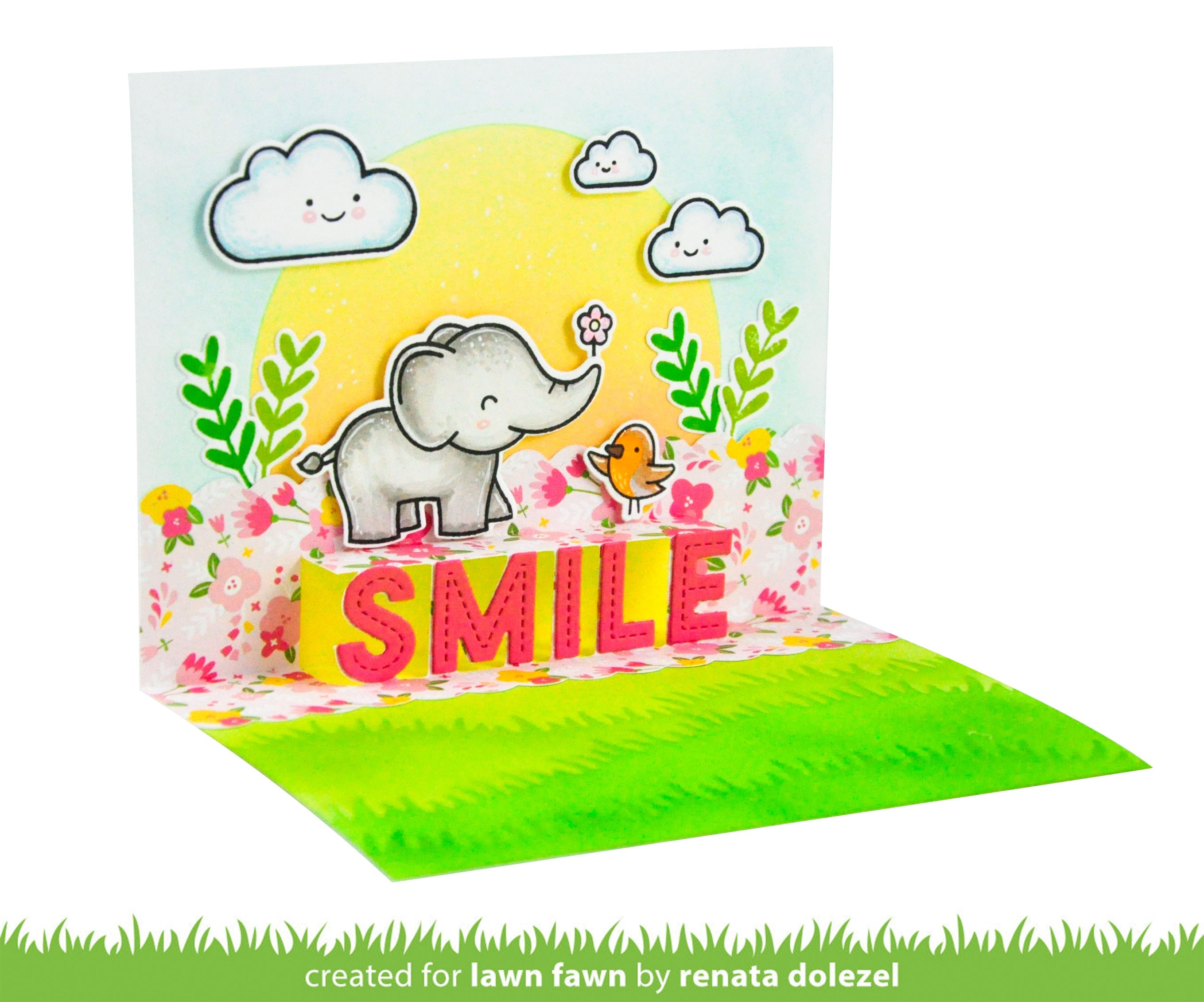Lawn Fawn Pop Up Smile lf2528