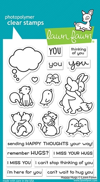 Lawn Fawn happy hugs clear stamp set LF2556