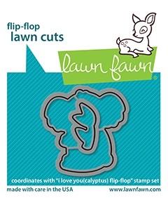 Lawn Fawn i love you(calyptus) flip-flop - lawn cuts LF2565