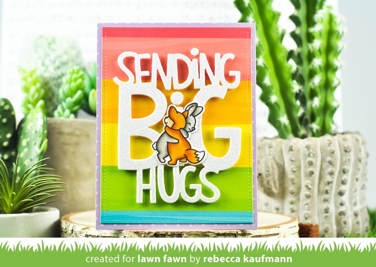 Lawn Fawn giant sending big hugs LF2556