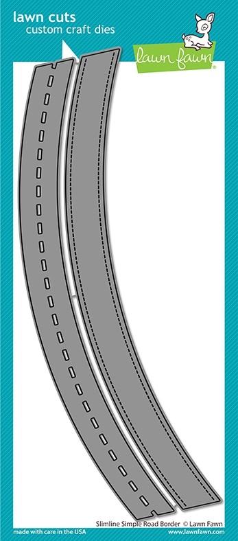 Lawn Fawn slimline simple road border LF2570