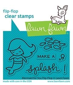 Lawn Fawn mermaid for you flip-flop LF2595