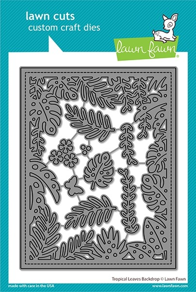Lawn Fawn tropical leaves backdrop LF2615
