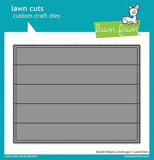 Lawn fawn simple stripes: landscape die LF2621