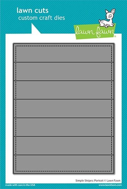 Lawn Fawn simple stripes: portrait die LF2622