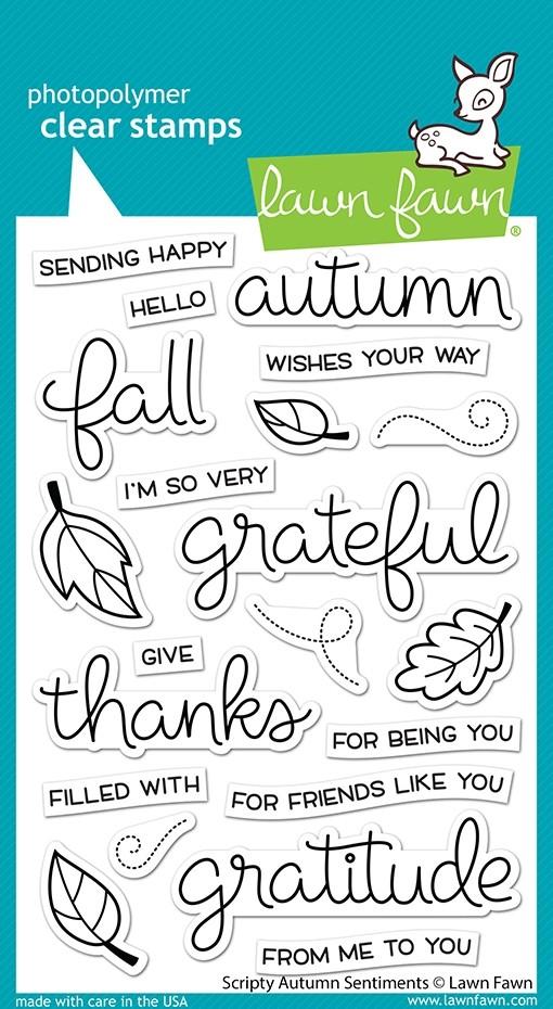Lawn Fawn scripty autumn sentiments LF2662