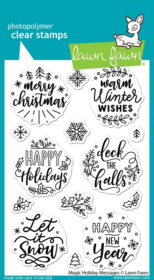 Lawn Fawn magic holiday messages LF2676