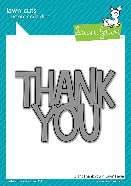 Lawn Fawn giant thank you LF2692