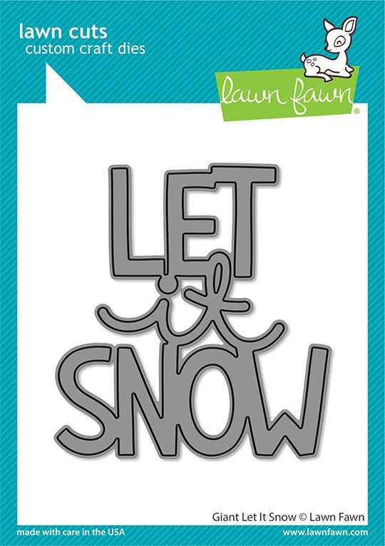 Lawn Fawn giant let it snow LF2695