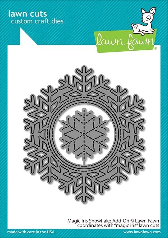 Lawn Fawn magic iris snowflake add-on LF2697