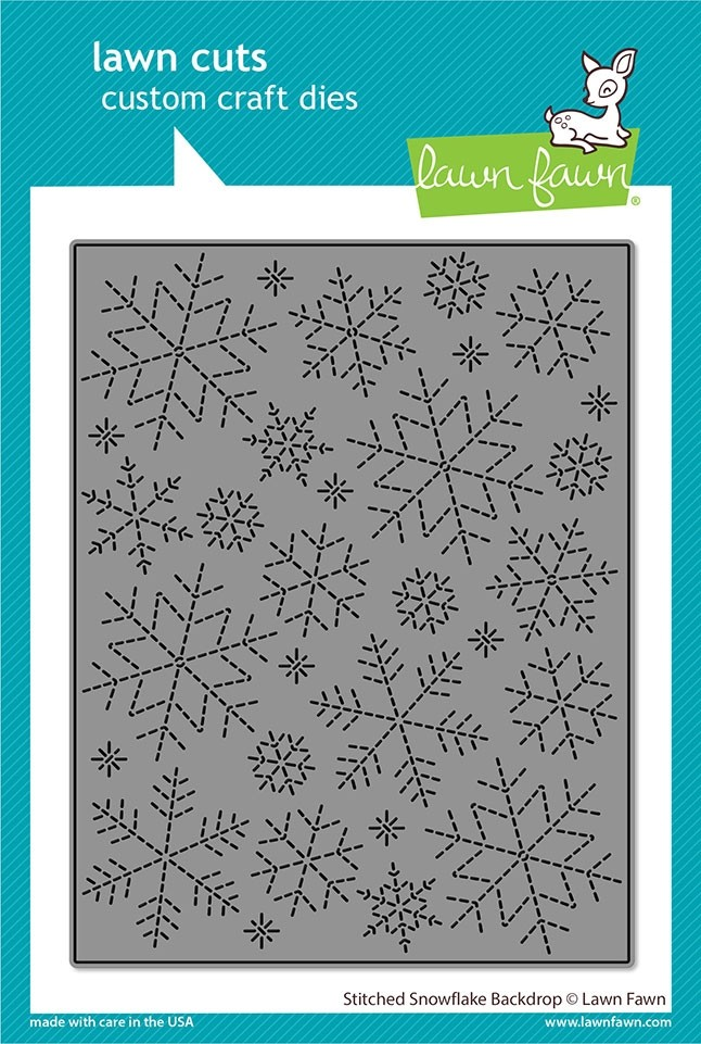 Lawn Fawn stitched snowflake backdrop LF2704
