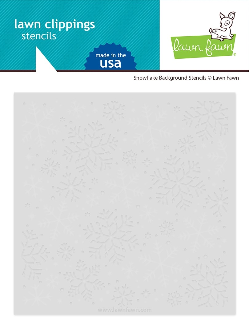 Lawn Fawn snowflake background stencils LF2710