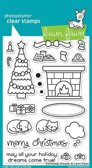 Lawn Fawn Christmas Dreams Clear Stamp Set