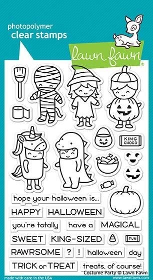 Lawn Fawn Costume Party Clear Stamps