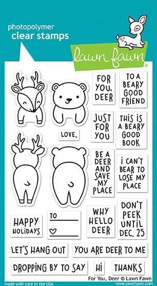 Lawn Fawn For You Deer Clear Stamp Set
