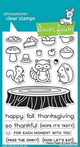 Lawn Fawn Forest Friends Clear Stamp Set