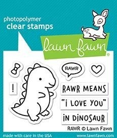 Lawn Fawn RAWR Clear Stamp Set