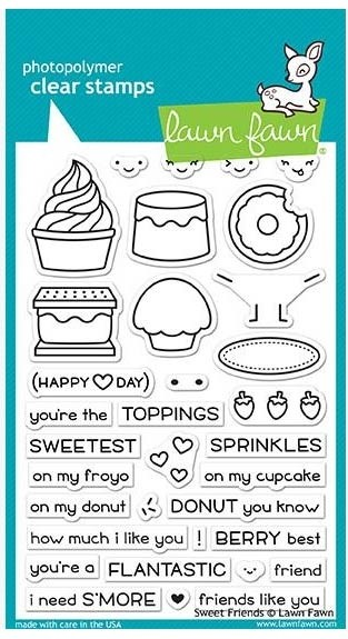 Lawn Fawn Sweet Friends Clear Stamp Set
