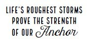 5573c - life's roughest storms rubber stamp