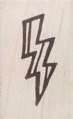 Rubbermoon Lightning bolt stamp