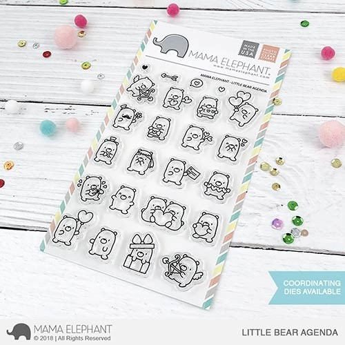 Mama Elephant Little Bear Agenda Stamp Set and Dies