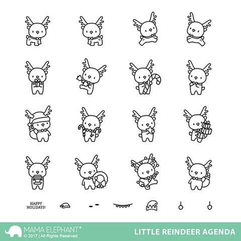 Mama Elephant Little Reindeer Agenda