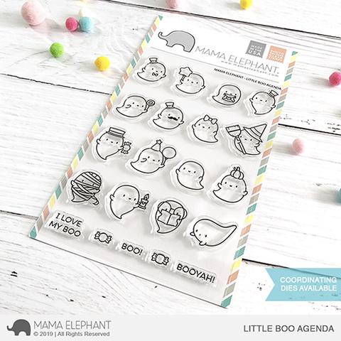 Mama Elephant Little Boo Agenda Clear Stamps