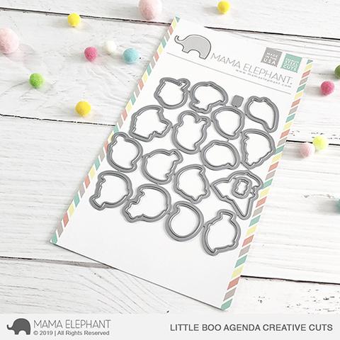 SALE - Mama Elephant Little Boo Agenda Creative Cuts