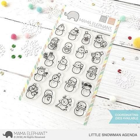 SALE - Mama Elephant Little Snowman Agenda Clear Stamps