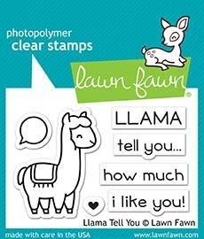 Lawn Fawn llama tell you