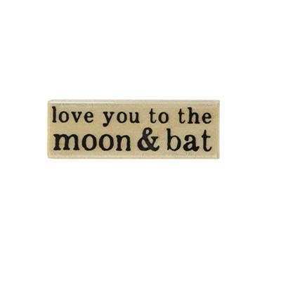 Hero Arts love you to the moon and bat rubber stamp  c6106