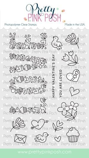 Pretty Pink Posh Love Stamp Set