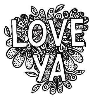 5730e - love ya stamp
