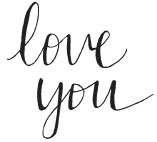Savvy Stamp love you rubber stamp 1608d