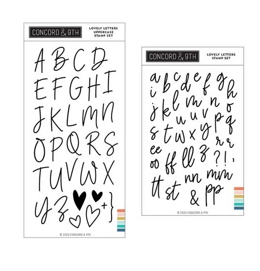 Concord and 9th Lovely Letters Stamp Set Bundle