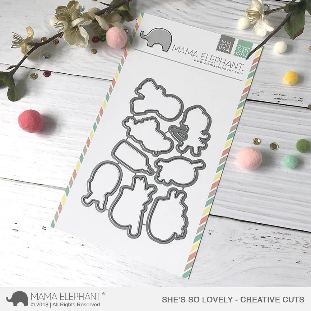 Mama Elephant She's So Lovely - Creative Cuts