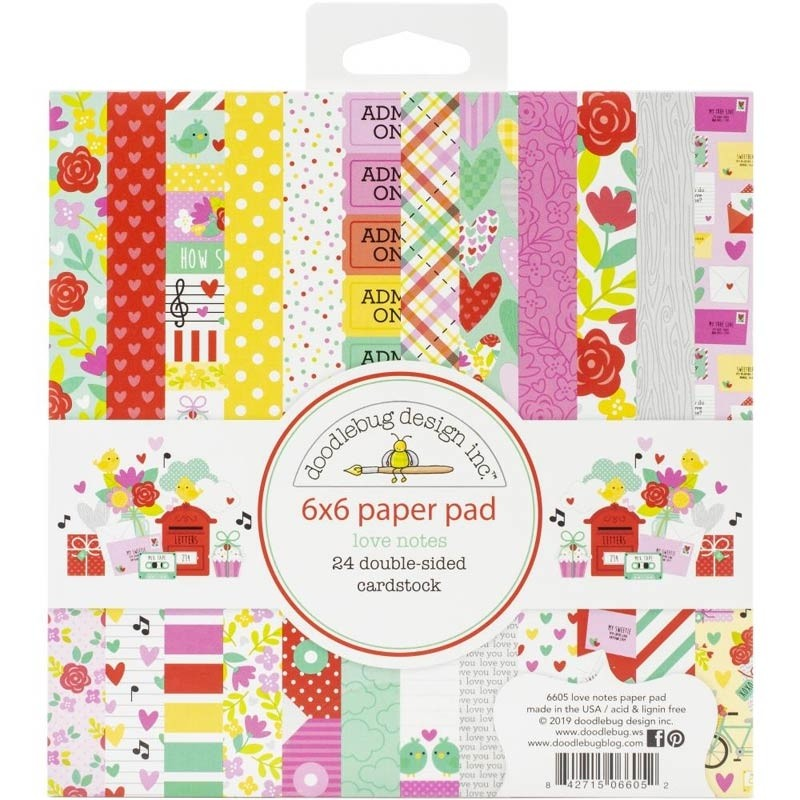 Doodlebug Design Love Notes 6x6 Paper Pad