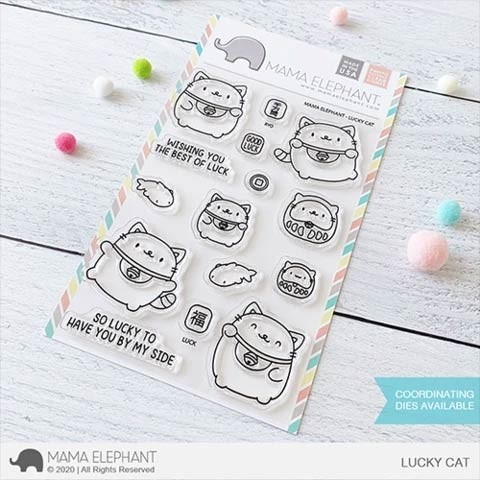 Mama Elephant  Products  Luck Cat Stamp Set