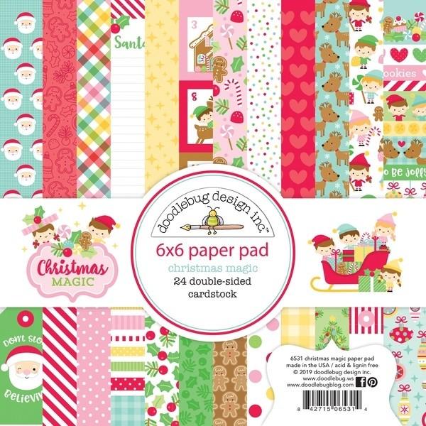 Doodlebug Christmas Magic 6 x 6 Paper Pad