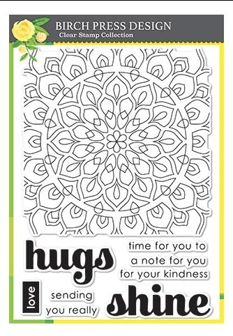 Birch Press Shining Mandala Clear Stamp Set