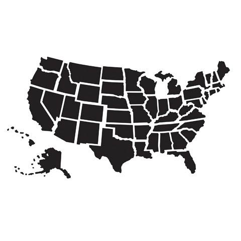US Map Embossing Folder