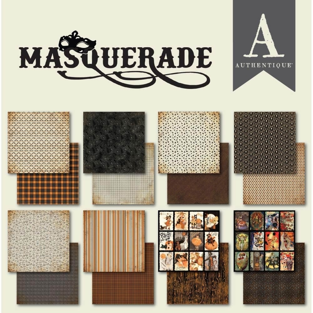 SALE - Authentique Masquerade 6x6 Paper Pack