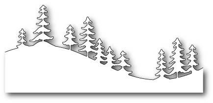 Fresh Pine Curved Border craft die (99503)