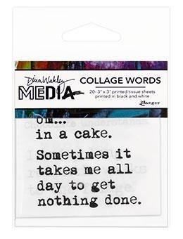 Dina Wakley Media Collage Word - MDA68198